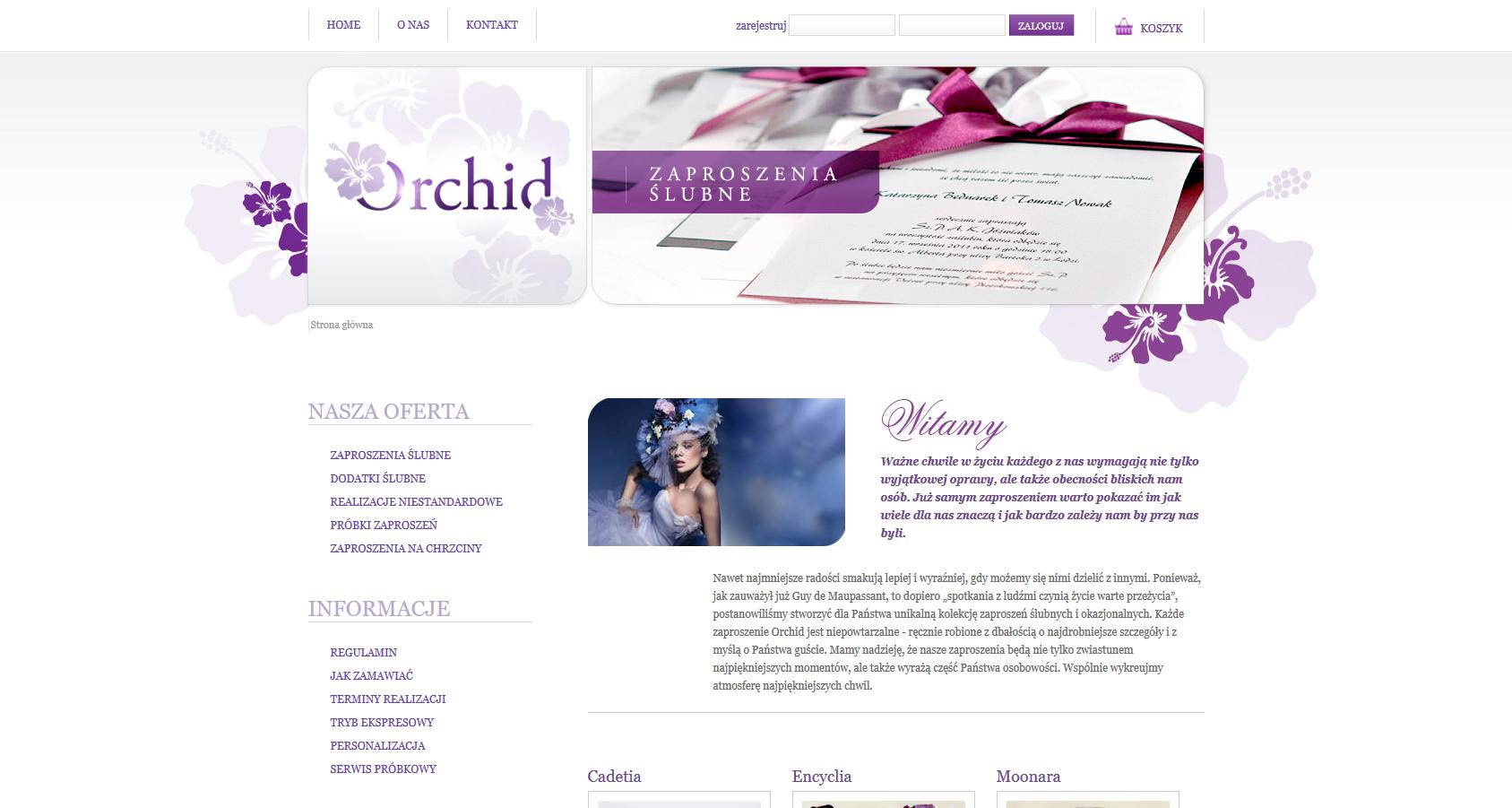 Orchid zaproszenia ślubne